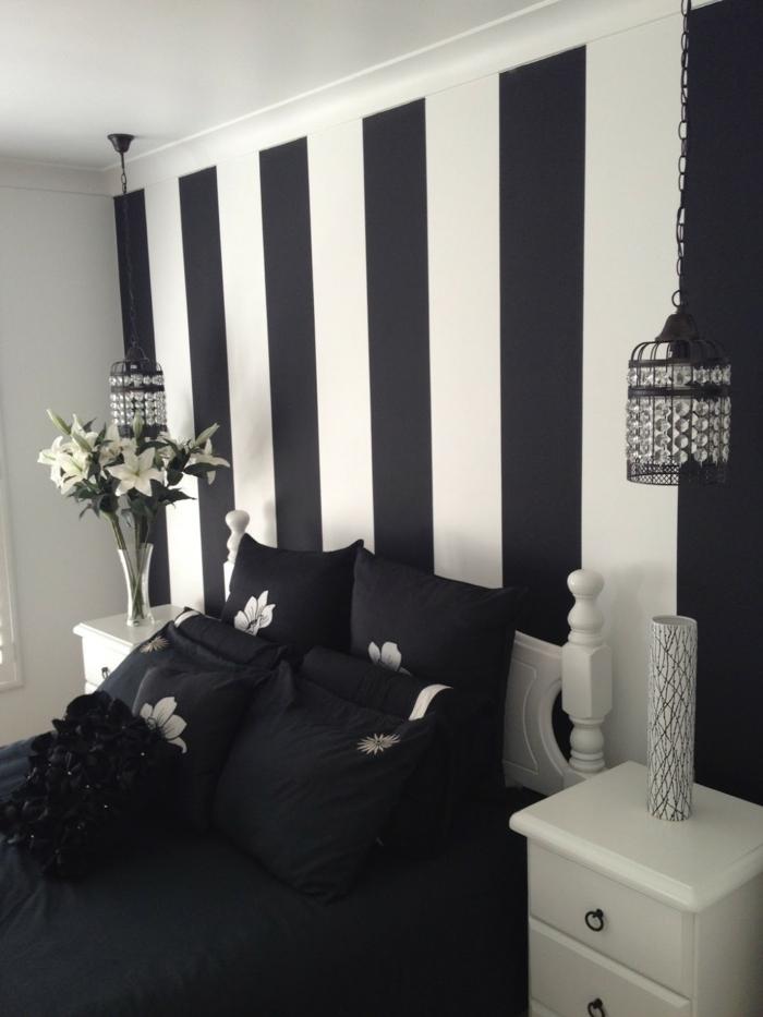 Schlafzimmer Schwarz  31 Beispiele dass schwarze Schlafzimmer schick und wohnlich sind