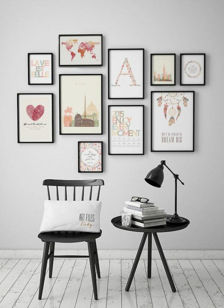 Kreative Wandgestaltung  35 inspirierende Fotobeispiele