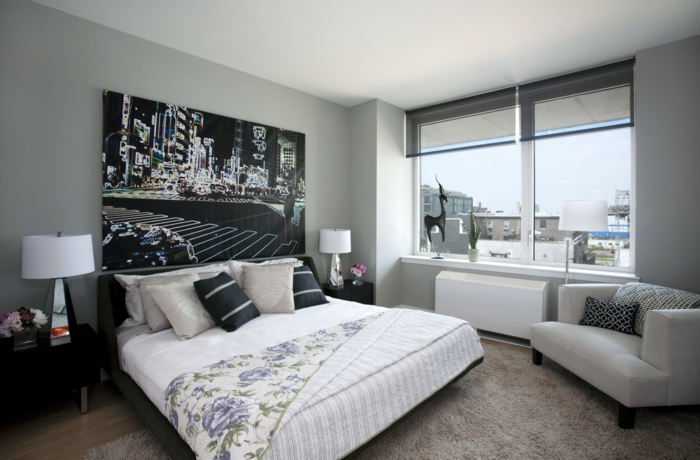 Schlafzimmer Grau  88 Schlafzimmer mit deutlicher Prsenz