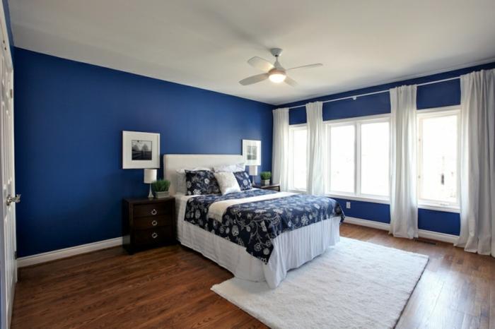Schlafzimmer Blau  50 blaue Schlafbereiche die Schlaf