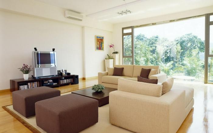 Tapeten Wohnzimmer Kleiner Raum Wohnzimmer Beige Gestalten ... Wohnzimmer Beige Couch
