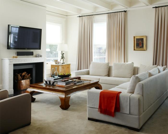 Wohnzimmer Beige gestalten  60 Beispiele wie Sie das besser machen