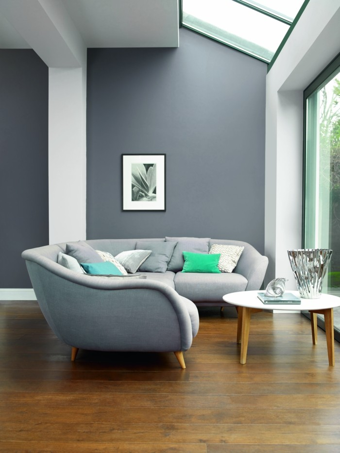Wohnzimmer Grau Mit Holz