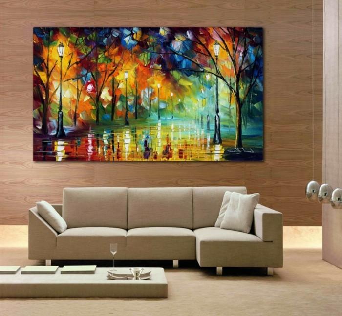 Wandbilder Wohnzimmer  50 Ideen wie Sie die Wohnzimmerwnde mit Wandbildern dekorieren