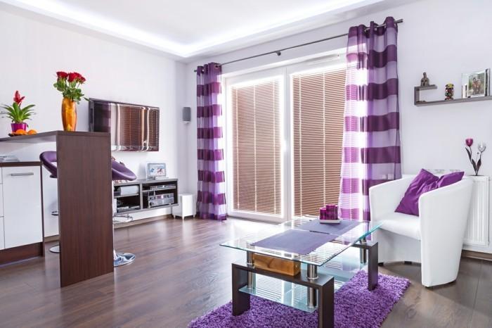 wohnideen wohnzimmer lila farbe – usblife, Wohnideen design