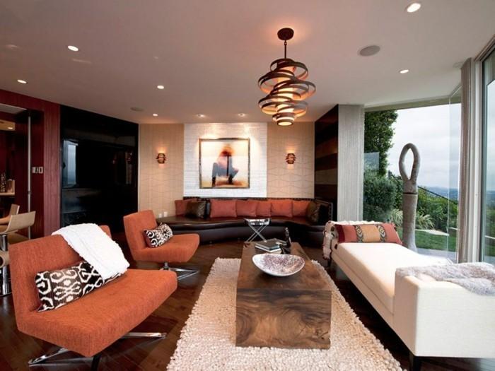 Wohnzimmer Lampen  66 Ausgefallene Ideen fr die