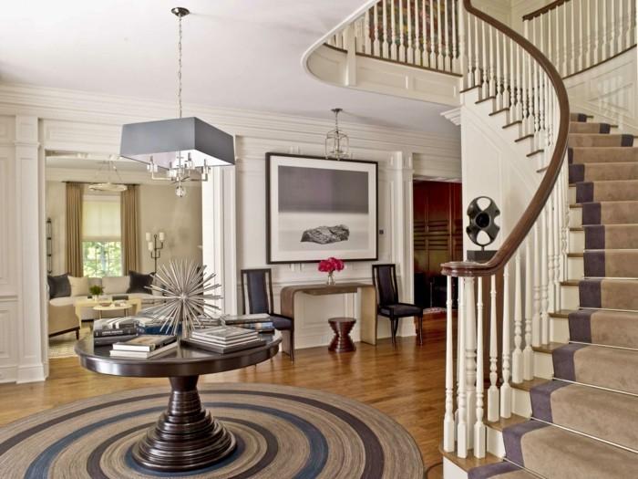 Teppich rund  40 Innendesigns mit rundem Teppich die sehenswert sind