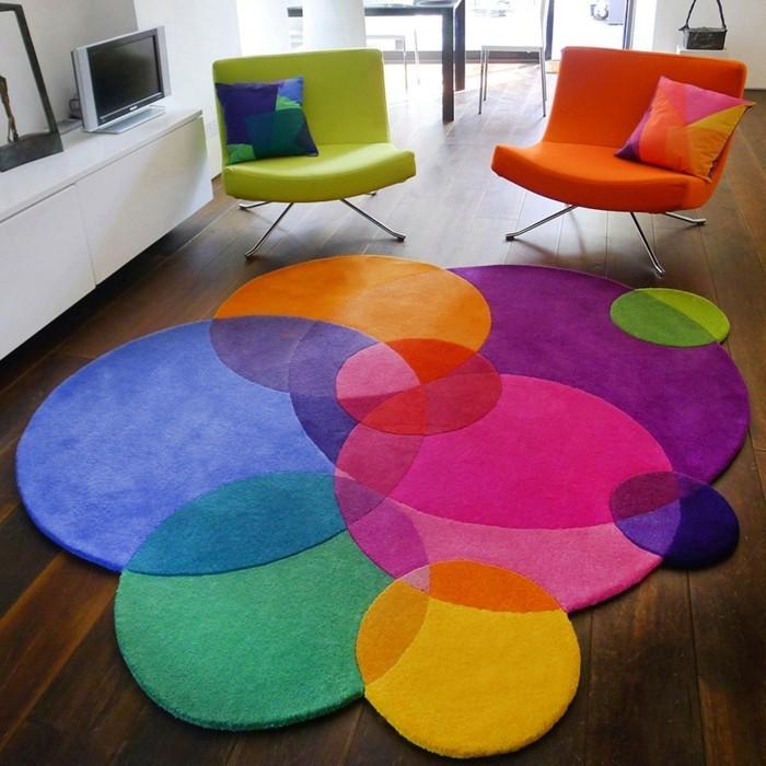 Teppich rund  40 Innendesigns mit rundem Teppich die