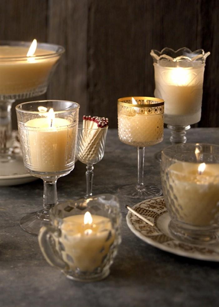 Kerzen Deko  Tolle DIY Ideen wie Sie Deko mit geschmolzenen Kerzen in Glas selber machen