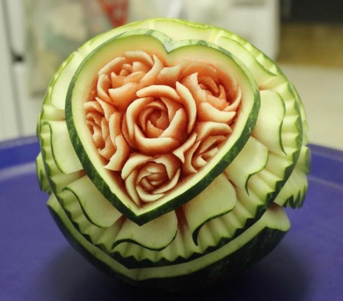 Obst schnitzen Kreative DIY Dekoideen mit Obst