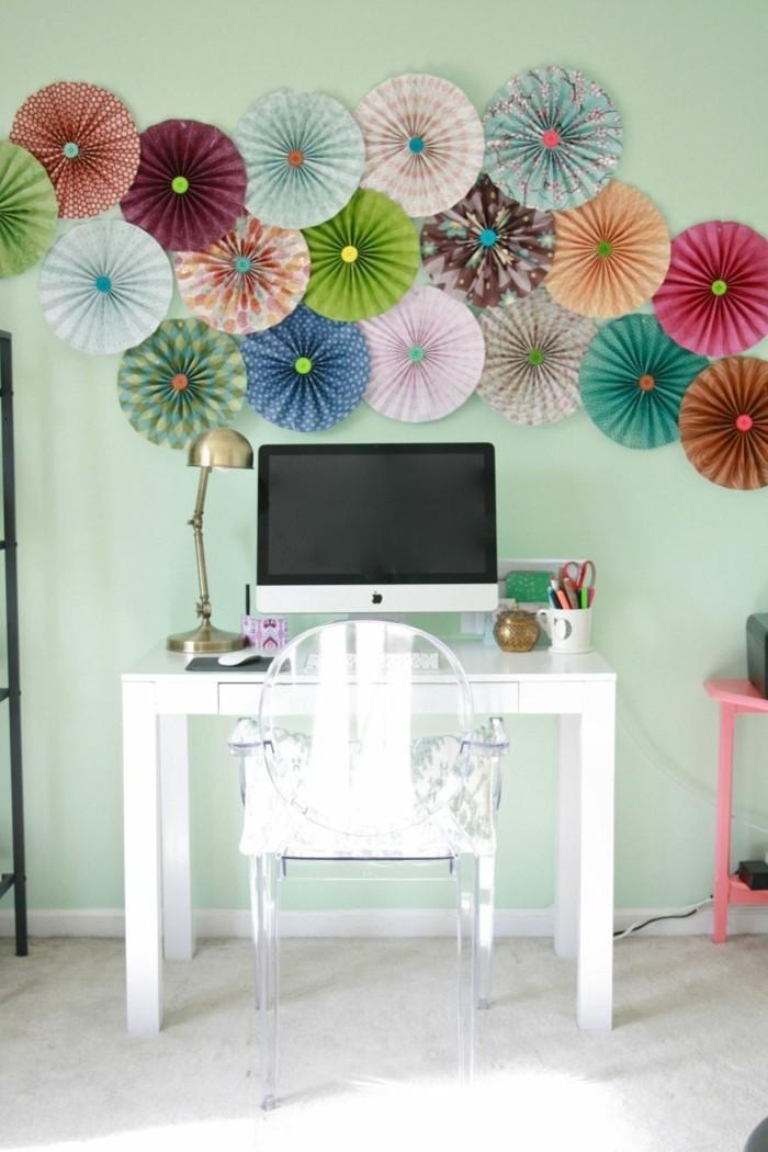 Zimmer Deko DIY  Frische Frhlingsdeko aus Papier basteln