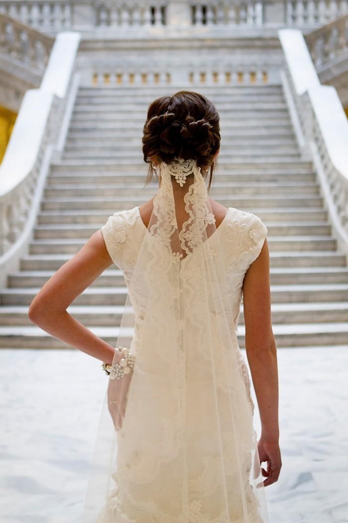 101 Hochzeitsideen Für Brautfrisuren Mit Schleier Weil Das