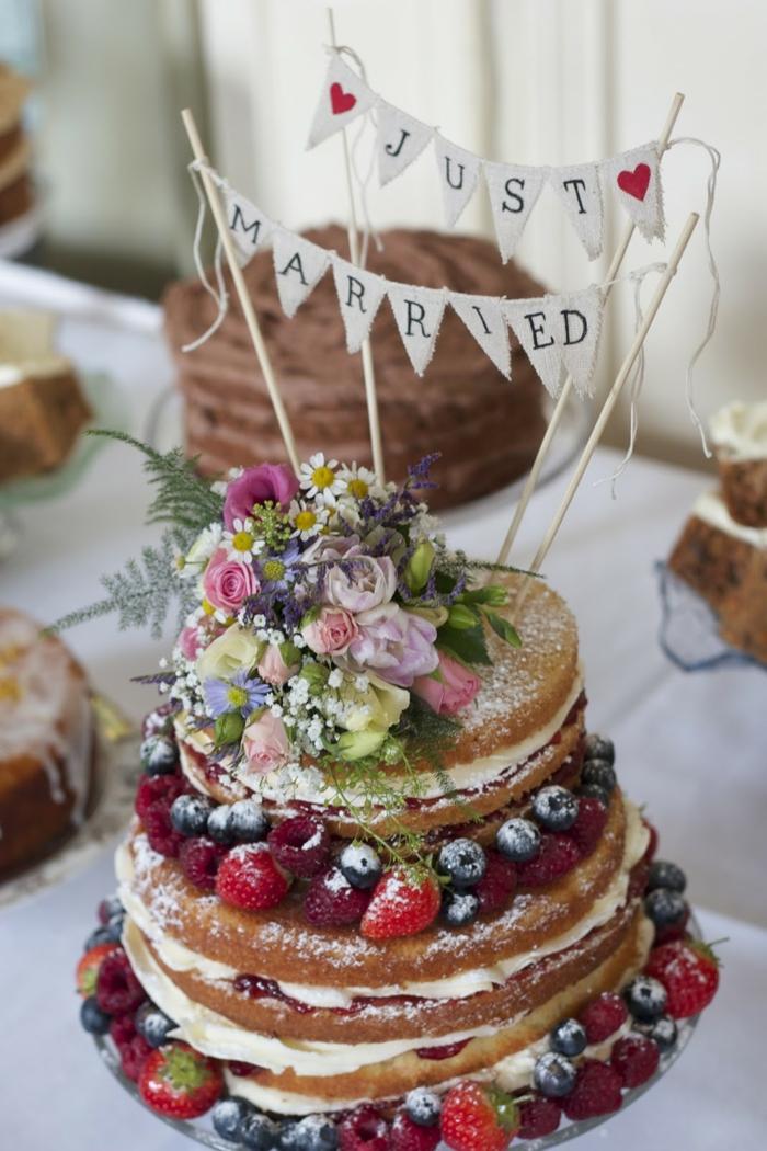 Tortendeko im Boho Style  47 kstliche Tortenideen fr Ihre perfekte Hochzeitsfeier