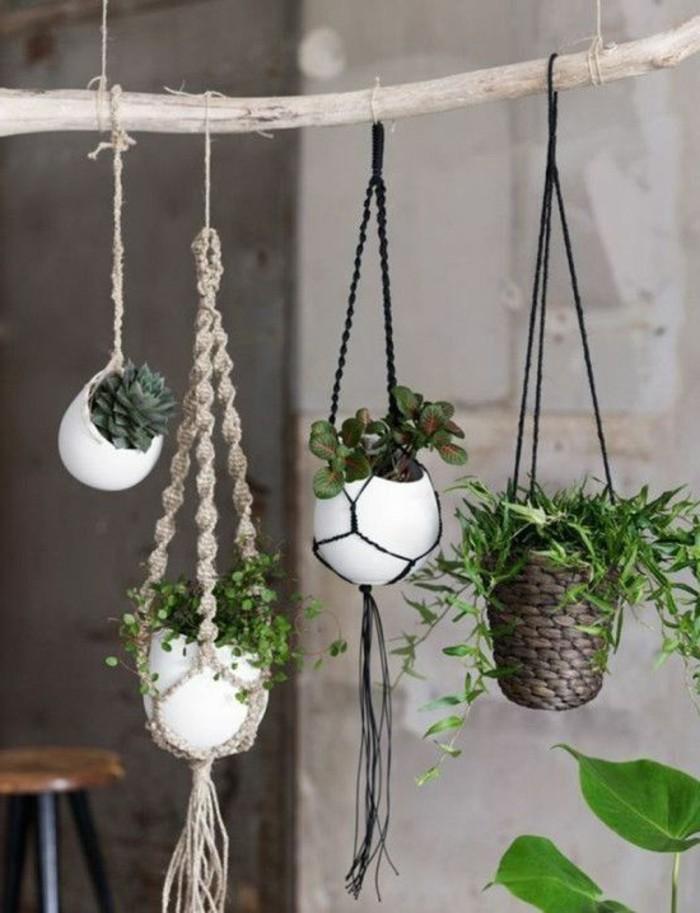 Makramee Blumenampel selber machen  40 Ideen wie Sie ein frisches Flair in den Raum bringen