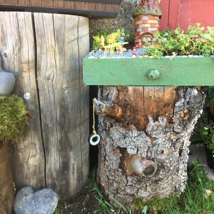 Gartendeko basteln Naturmaterialien  35 Beispiele wie Sie den Garten aufpeppen