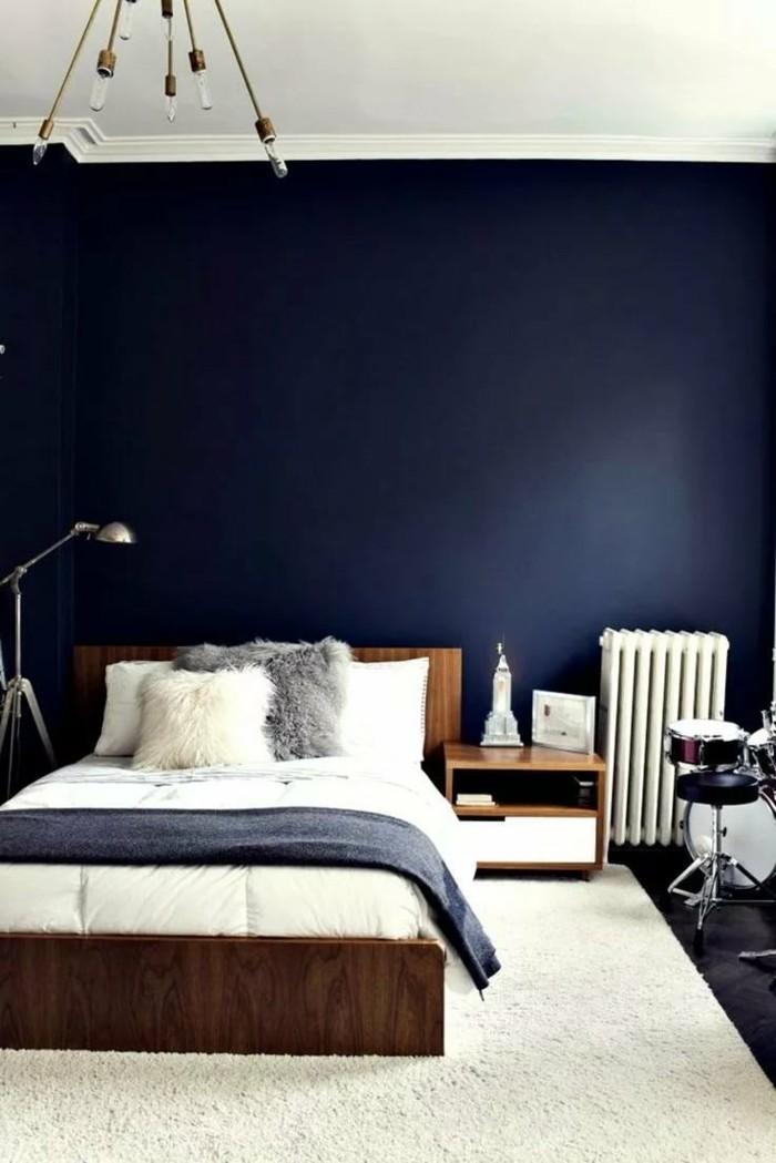 Trendige Farben Fabelhafte Schlafzimmergestaltung in GrauBlau