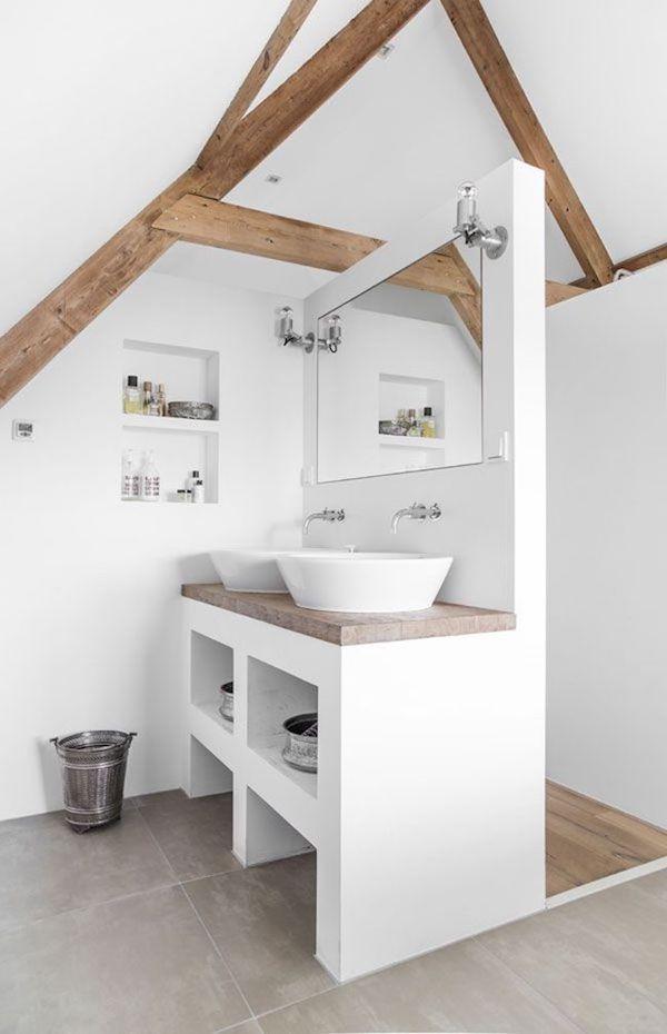 Praktische Badezimmer mit Dachschrge  die aktuellsten Designs