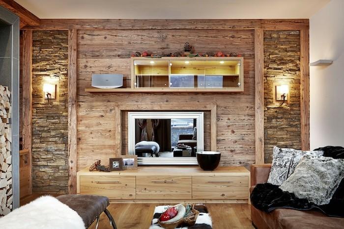 Rustikale Holzwnde zu Hause  30 Beispiele fr eyecatchende Wandgestaltung