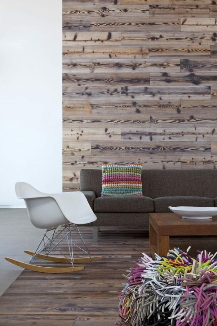 Rustikale Wand Wohnzimmer