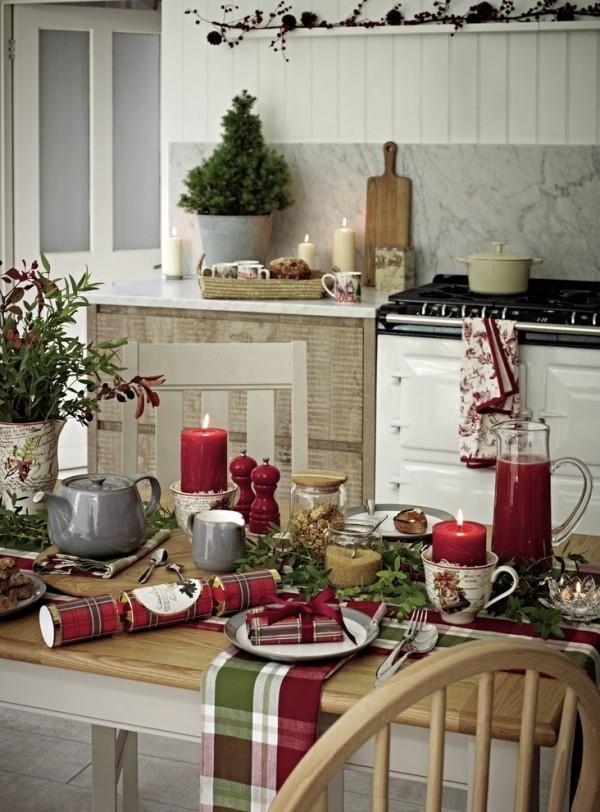 Weihnachtsdeko Landhausstil macht Weihnachten unglaublich gemtlich und romantisch