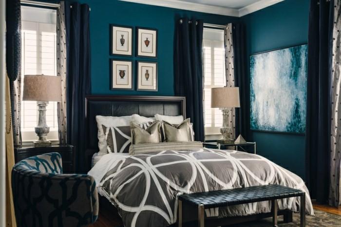 Wandfarbe Petrol  56 Ideen fr mehr Farbe im Interieur