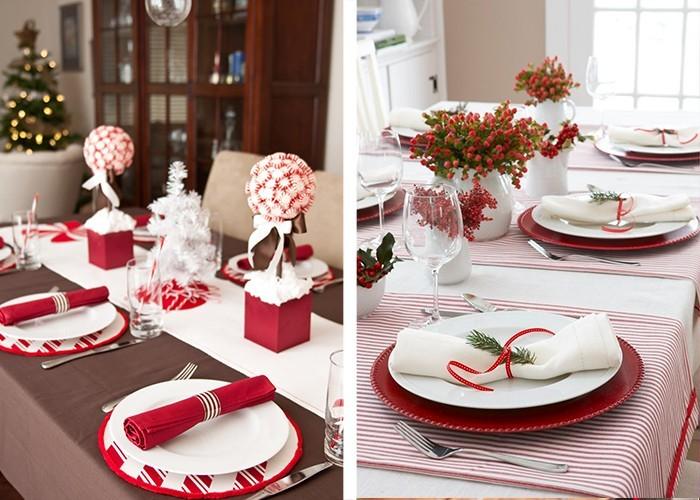 Weihnachtliche Tischdeko  60 ausgefallene Tischdeko Ideen