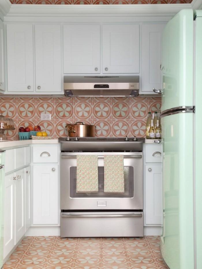 Küche Retro Fliesen
