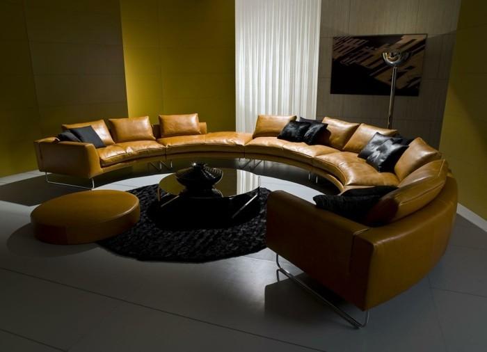 Rundes Sofa im Wohnbereich  43 Ideen fr bequeme und funktionale Einrichtung