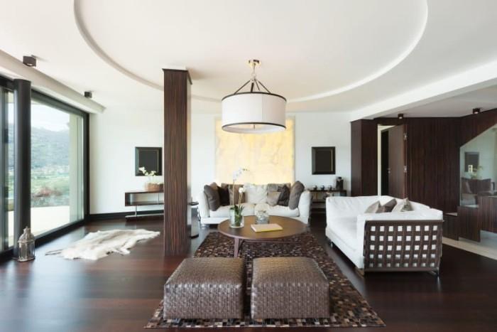 Schne Wohnzimmer in Erdfarben  Fresh Ideen fr das