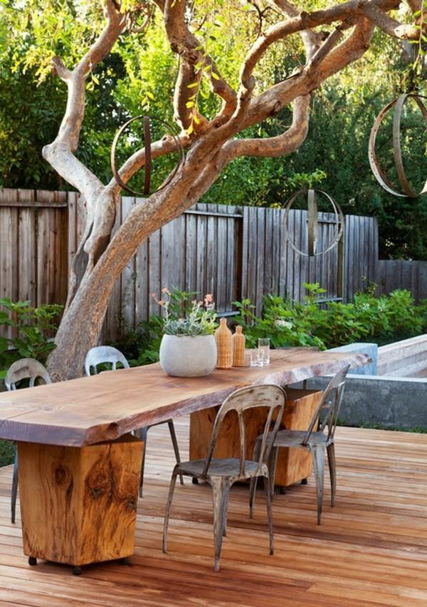 Rustikale Deko im Garten  35 reizvolle Ideen fr mehr Natrlichkeit und Gemtlichkeit