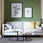Moderne Wohnzimmer Farben Trendge Einrichtungsideen In Grun Und Rot