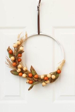 Idées couronnes d' automne – portes et fenêtres décorées