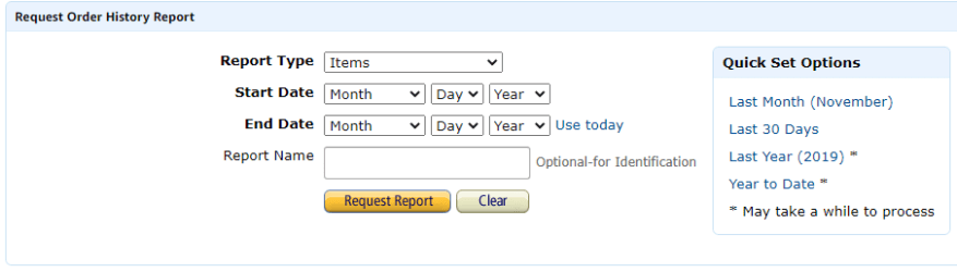 Amazon Request Order Report Instructions
