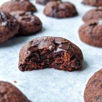 Sugar Free Double Chocolate Sea Salt Cookies (paleo)