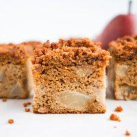 Pear Crumb Cake (paleo)