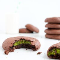 Brownie Matcha Cookies (paleo)