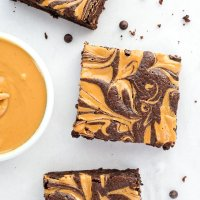 Peanut Butter Swirl Brownies (paleo)