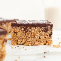 Tahini Rice Crispy Treats (vegan, no bake)