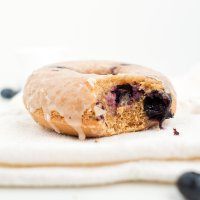 Easy Baked Blueberry Donuts (paleo & nut free)