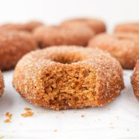 Baked Ginger Apple Cider Donuts (paleo & nut free)