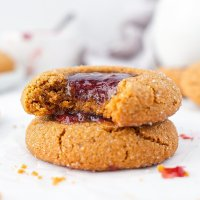Peanut Butter & Jam Thumbprint Cookies (grain free & dairy free)