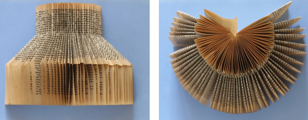 Crafted Book Art Vase