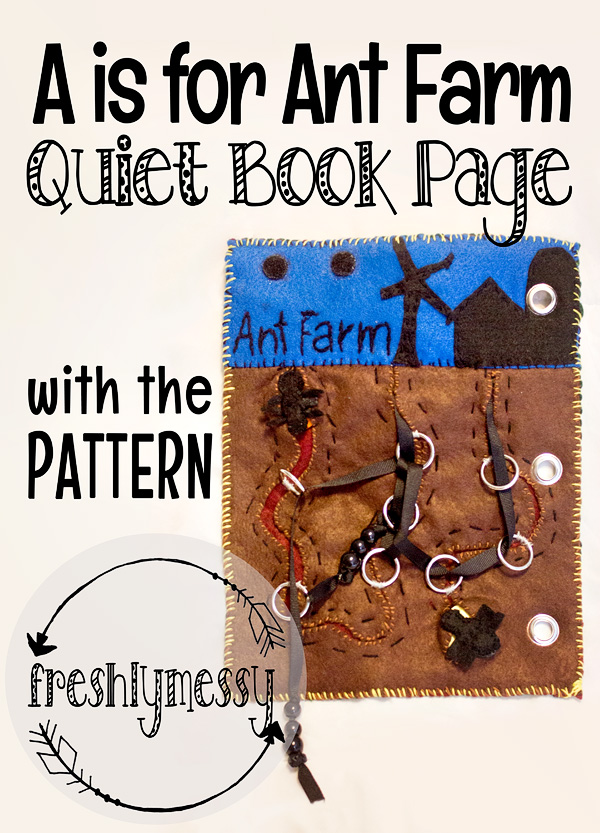 a is for ant farm quiet book