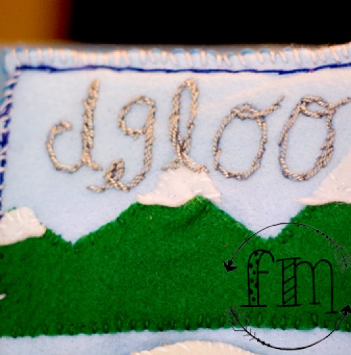 i is for igloo quiet book 4