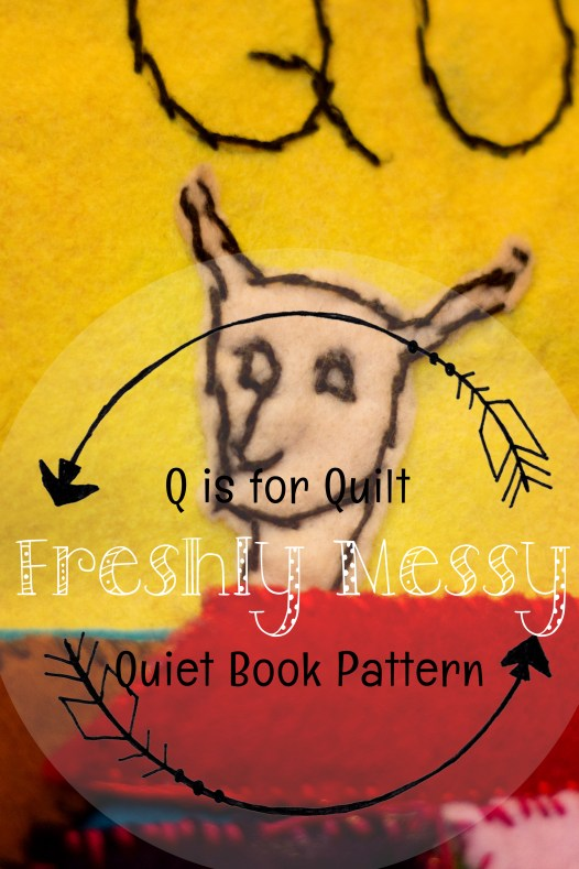 q is for quilt quiet book 6