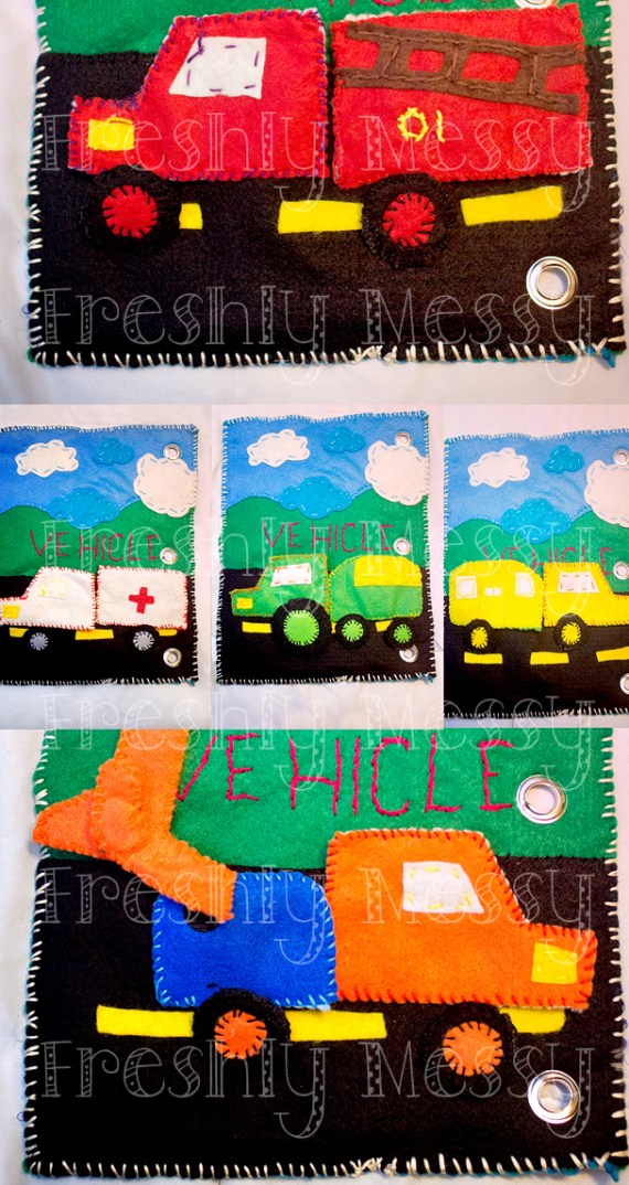 v is for vehicle quiet book 2