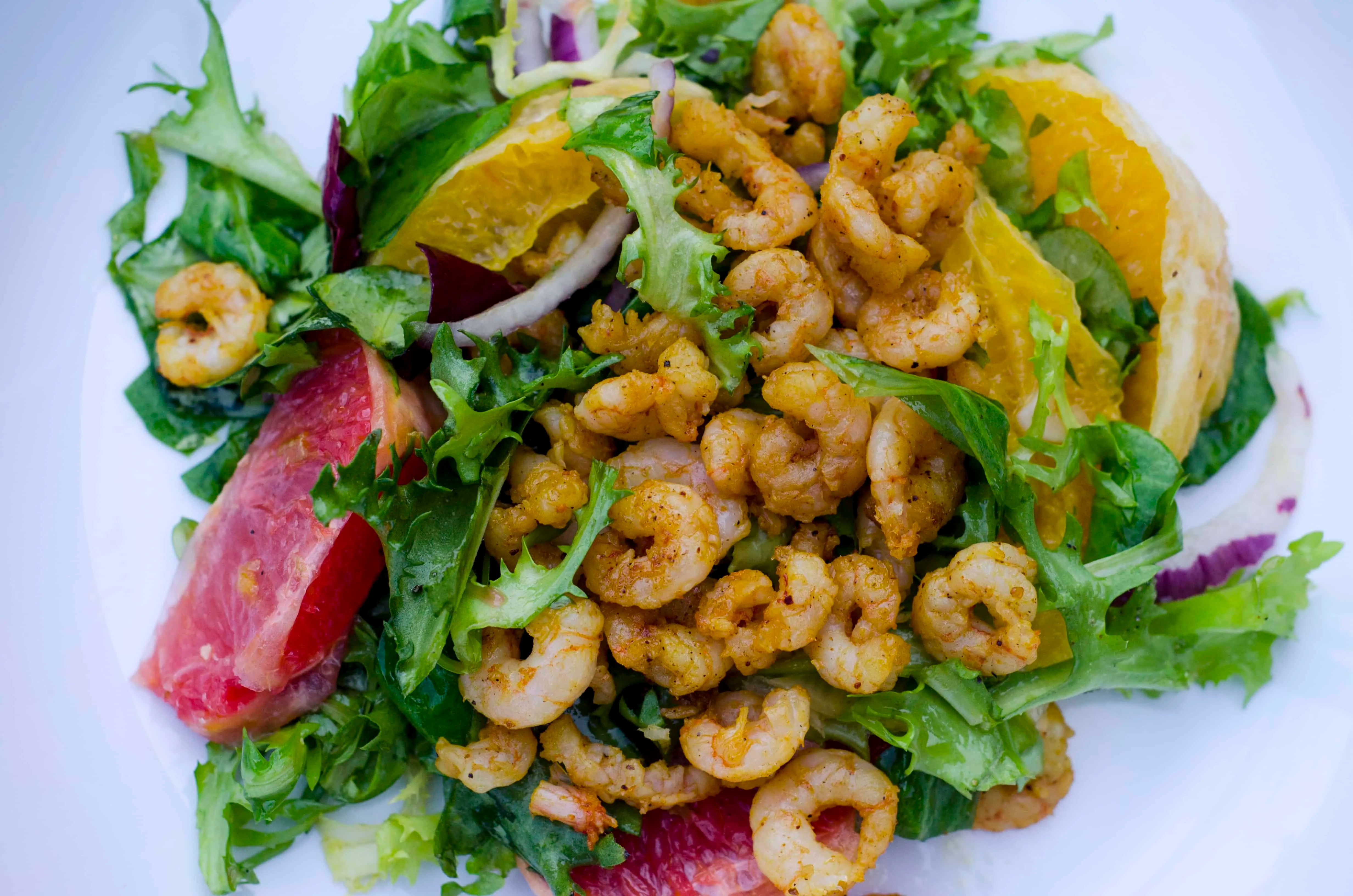 Prawn Winter Salad Recipe (Ras El Hanout Blend)