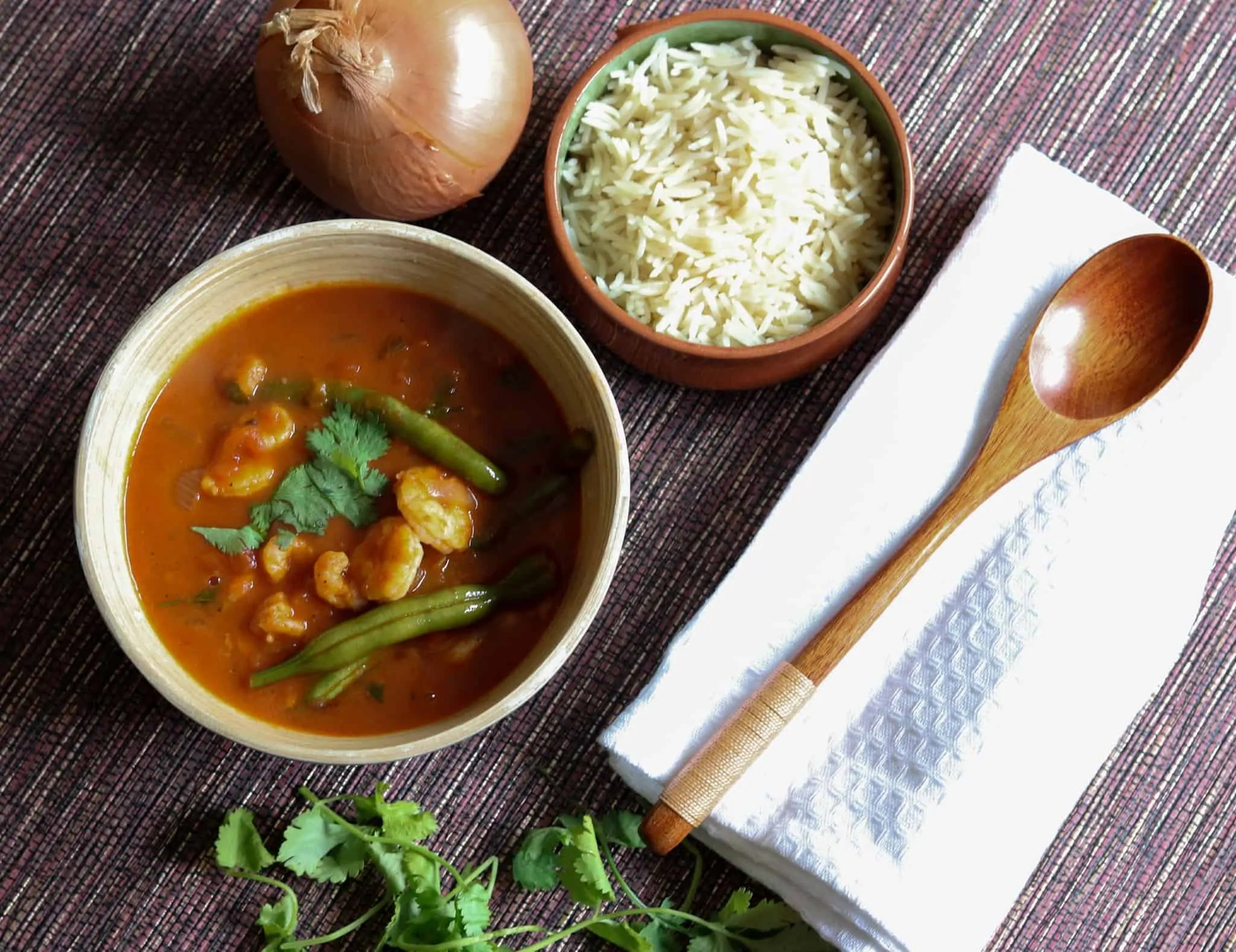 Berbere Prawn Curry