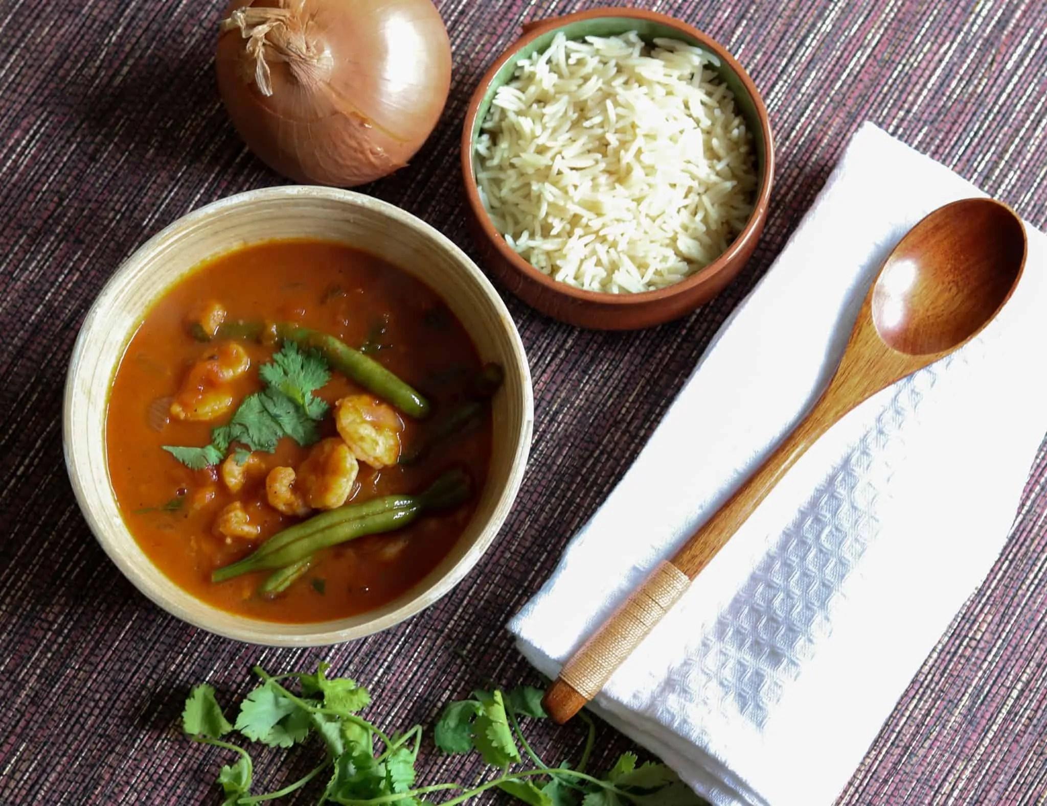 Berbere Prawn Curry