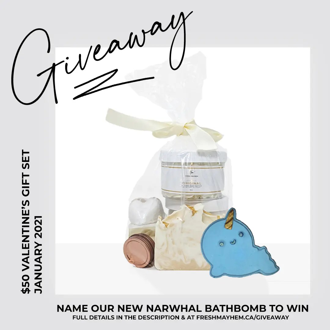 Name the Narwhal – $50 Gift Set Giveaway!